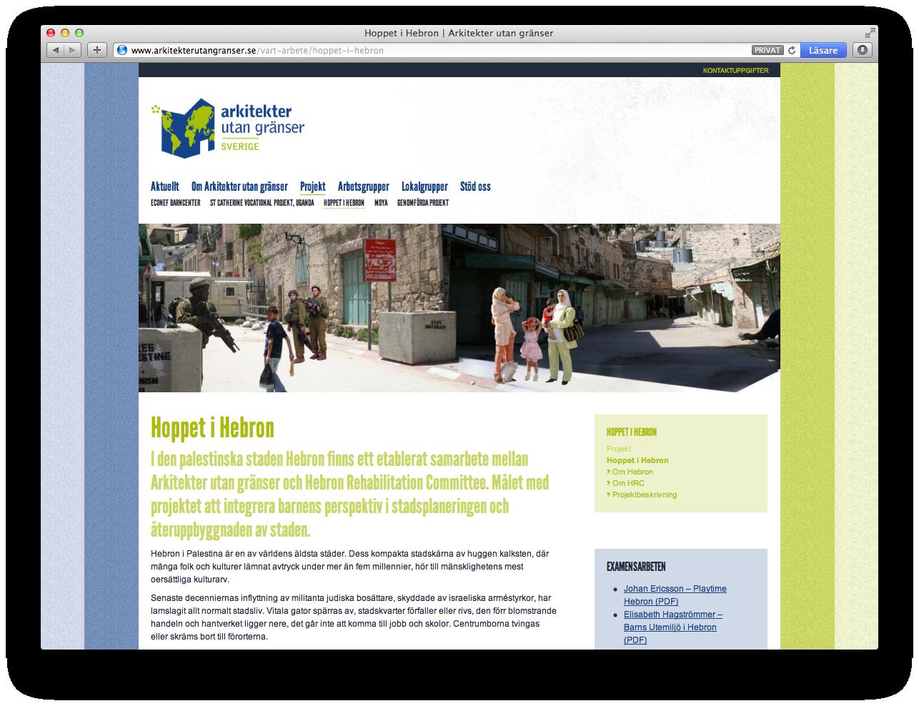 Arkitekter utan granser - projektsida