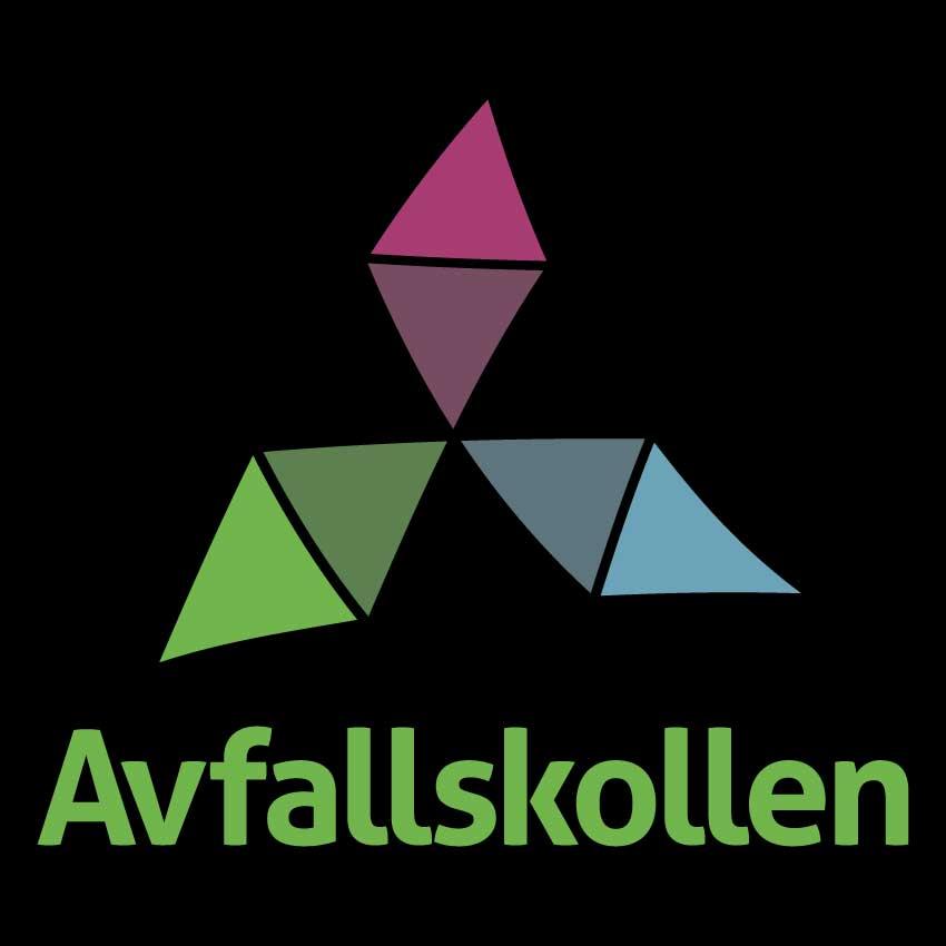 Avfallskollen logotyp svart bakgrund